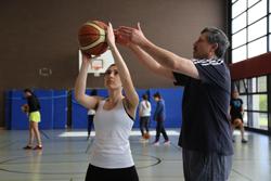 Cahide mit Trainer Ahmad; Foto: Melanie Gärtner