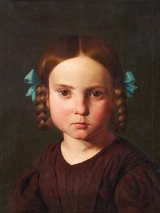 Edward Jakob von Steinle, Bildnis Karoline von Steinle (1840).