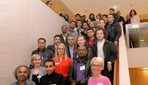 """""""Academic Welcome Program"""" bietet 30 Geflüchteten Zugang zu universitärer Bildung und Infrastruktur; Foto: Hofmann"""