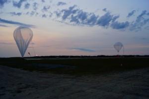 Start eines Wasserstoff gefüllten Stratosphärenballons. Foto: A. Engel.