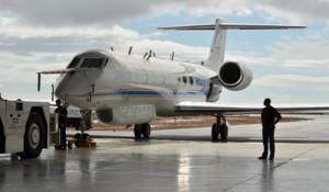 Das Forschungsflugzeug HALO ermöglicht Messungen in der unteren Stratosphäre. Foto: A. Engel.