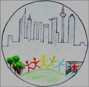 Logo der Gruppentherapie, gemalt von einem 15Jährigen Teilnehmer. Foto: Uniklinik Frankfurt