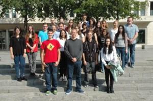 Herzlich willkommen! Wir wünschen den neuen Auszubildenden einen guten Start an der Goethe-Universität!