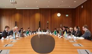 "Tagung der Themengruppe 6 – ""Governance & Policies"" – im Senatssaal der Goethe-Universität; Foto: Lecher"