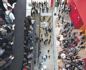 Semesterstart im Hörsaalzentrum: Zum Wintersemester zählte die Goethe-Uni in den letzten Jahren jeweils über 8000 Erstsemester; Foto: Goethe-Universität