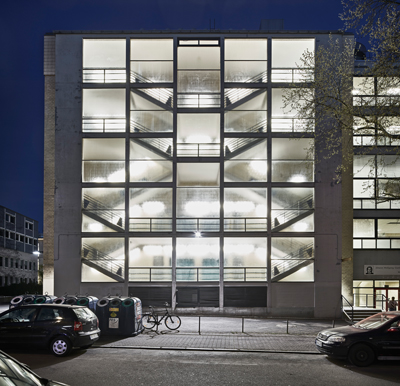 Ferdinand Kramer: Hörsaalgebäude I (1958) und II (1964) Universität Frankfurt. Foto: Norbert Miguletz, 2015; © DAM