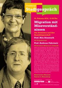 "25. Februar, 19 Uhr / ""Frankfurter Stadtgespräch"" mit Rita Süssmuth"
