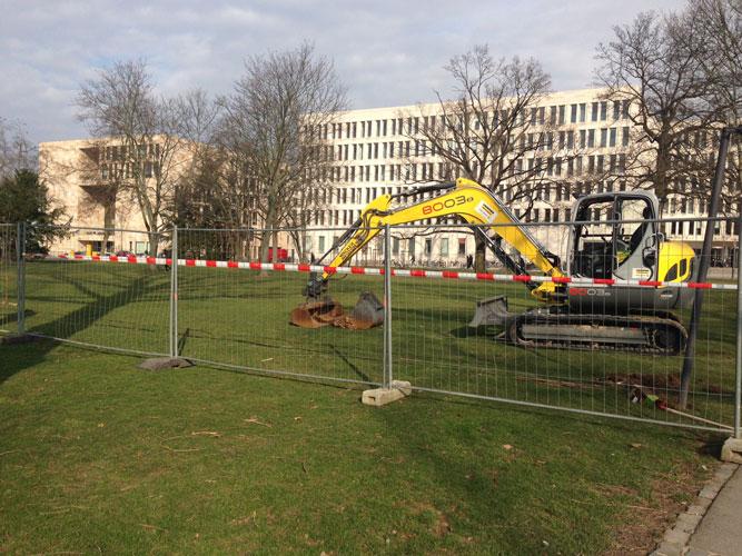 Ende April sollen die Bauarbeiten abgeschlossen sein,...