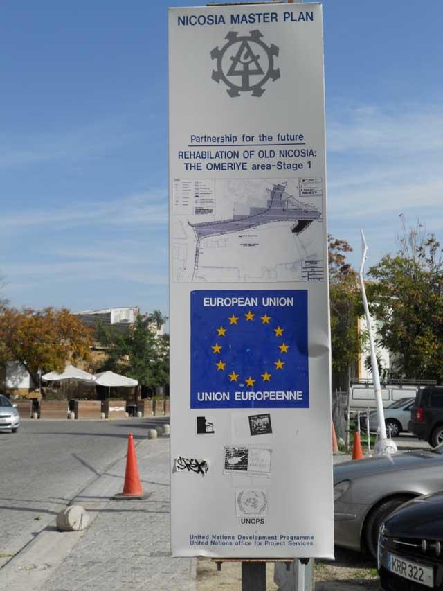 EU-Förderung für Altstadtsanierung in der Hauptstadt Nikosia.
