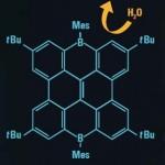 Borhaltige Nanographene könnten die organischen Leuchtstoffe der Zukunft sein. © Valentin Hertz