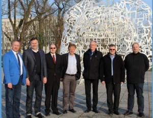 Der Vorstand des AMC (v. links): Gerhard Hauser, Prof. Udo Kebschull, Volker Mischo, Wolfram Greis, Prof. Philipp Brune, Heiko Runkel, Prof. Martin Bogdan.