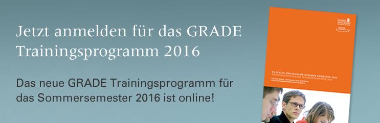 GRADE Trainingsprogramm SoSe 2016
