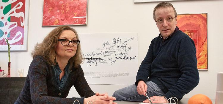 Claudia Böhm im Gespräch mit ihrem Stellvertreter Johannes Reinhartz; Foto: Lecher