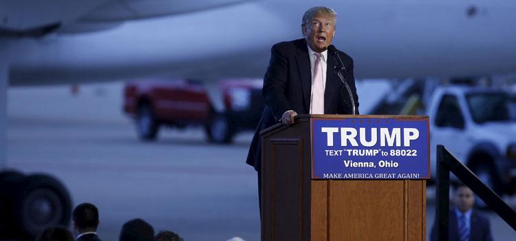 Trump spricht in Youngstown/Ohio, 14. März 2016. Foto: ullstein bild – Reuters/Aaron P. Bernstein