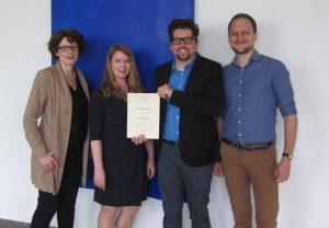 von links: Dr. Kerstin Schulmeyer-Ahl, Annette Korn, Dr. Cornelius Lehnguth, Jens Sir von der Abteilung Lehre und Qualitätssicherung