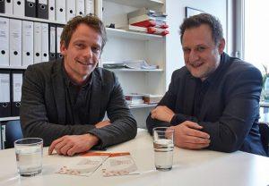 Prof. Tim Engartner (l.) und Dr. Matthias Herrle. Foto: Lecher
