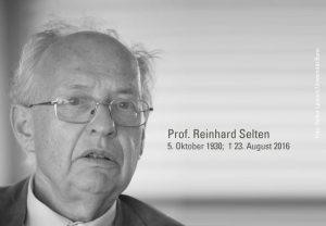 Prof. Reinhard Selten; 5. Oktober 1930; † 23. August 2016