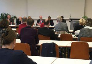 Hochschulpolitisches Gespräch des VHD an der Goethe-Universität. 5. Oktober, Campus Westend