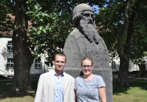 Schwergewichte in der Hochschulpolitik: Siglinde und Jonathan Brahmst. Foto: Frank