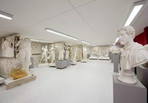 Abguss-Sammlung: Die JGU besitzt eine größere Zahl von Gipsabgüssen nach berühmten Meisterwerken der griechischen wie römischen Bildhauerkunst. Foto: Hartmann
