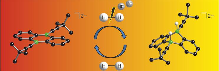 Neu entwickelte Borverbindungen können leicht Elektronen aufnehmen und damit das wichtige Wasserstoffmolekül spalten.