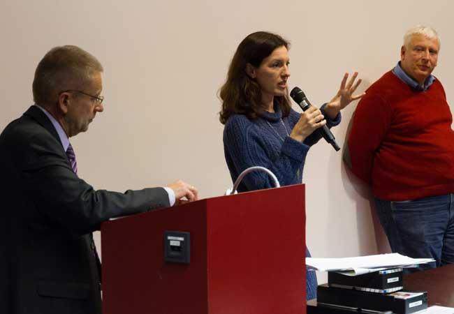 Prof. Rolf van Dick, Prof. Heather Hofmeister u. Prof. Michael Hochgeschwender (v. l. n. r.)