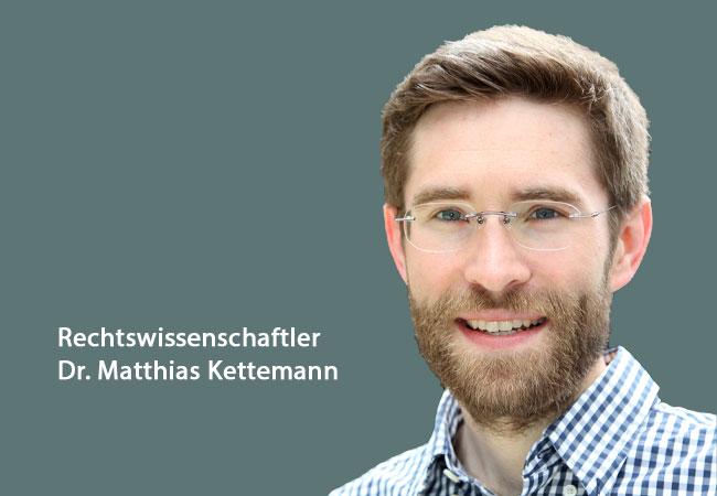 Dr. Matthias Kettemann; Foto: Privat