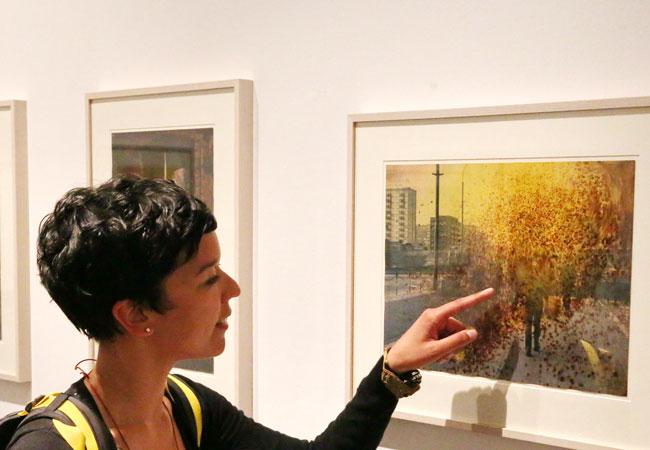 Die Studiengalerie 1.357 im IG-Farben-Haus ist ein Projekt des Historischen Seminars; Foto: Privat