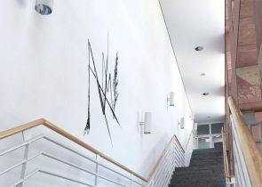 Gräser-Graffiti im Biozentrum, Campus Riedberg; © Cornelia Genschow