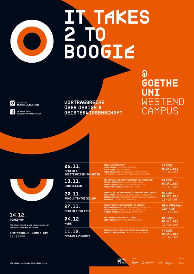 Ab 13 November Vortragsreihe It Takes 2 To Boogie Des