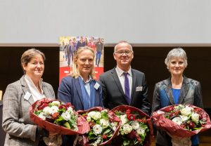 vlnr: Prof. Dr. Monika Gross, Prof. Dr. Birgitta Wolff, Prof. Dr. Bernd Scholz-Reiter, Prof. Dr. Johanna Weber
