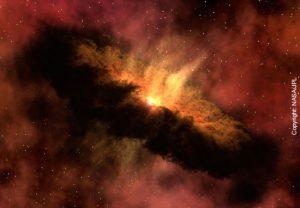 Bild3: Der Solare Nebel in einer künstlerischen Darstellung. (Copyright: NASA/JPL)