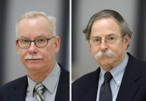 Professor Dr. Franz-Ulrich Hartl (links) und Professor Dr. Arthur L. Horwich