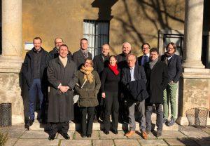 Vertreter der am Antrag beteiligten Hochschulen bei einem Treffen an der Università Cattolica im Februar. (Foto: Goethe-Universität)