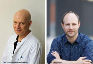 Prof. Dr. rer. nat. Jindrich Cinatl und Dr. Christian Münch (rechts)
