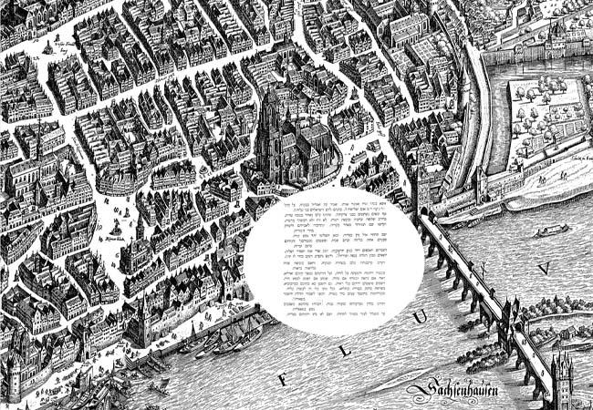 Plan der Stadt Frankfurt von Matthäus Merian von 1628