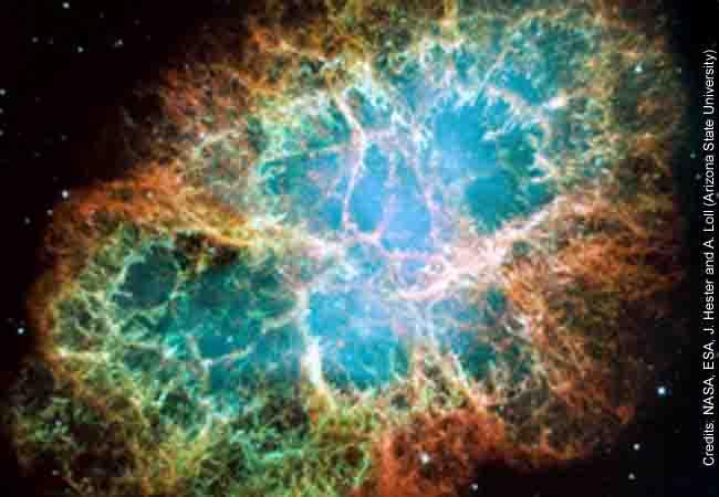 Crap Nebula, Hubble Telescope